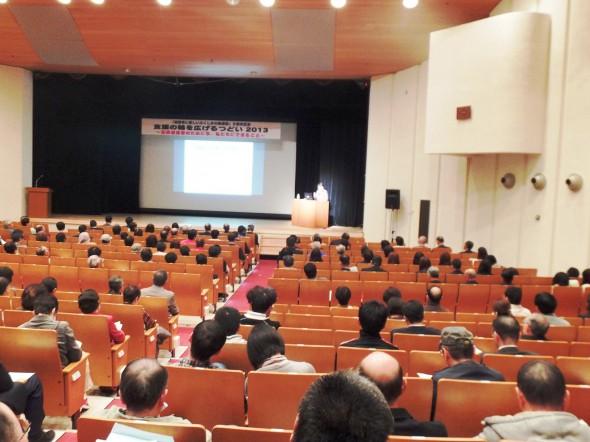山内久子さんの基調講演風景